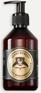 Beard Monkey Hårvård Hair & body Shampoo Lemongrass Grå
