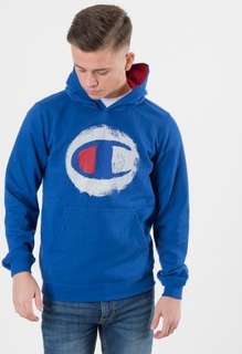 Champion HOODED SWEATSHIRT Blå Huvtröjor till Tjej