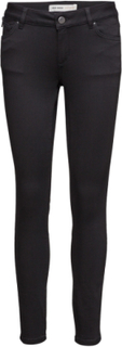 Victoria 7/8 Silk Touch Skinny Jeans Sort MOS MOSH
