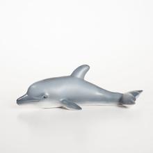 Badleksak i naturgummi delfin