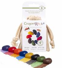 Crayon Rocks 8 färger i vit ekopåse