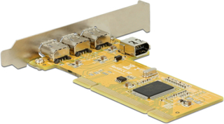 DeLOCK PCI 2.2, 3xFW 400 extern, 1xFW300 intern, LSI L-FW323-07 Chipse