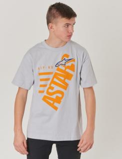 Alpinestars, BIGUN TEE, Grå, T-shirt/toppe till Dreng, M