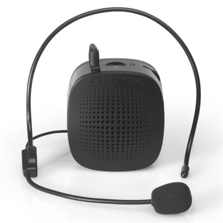 Kannettava äänenvahvistin kuulokkeilla