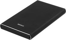"""Externt kabinett för 1x2,5"""" SATA-hårddisk, USB-C, USB 3.1 Gen 2, SATA 6Gb/s, aluminium, svart"""