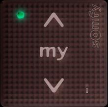 SOMFY Smoove 1 RTS Pure Trådlös väggsändare