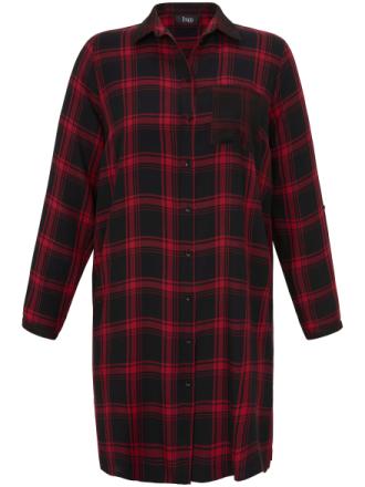 Lang skjorte skjortekrave Fra FRAPP sort - Peter Hahn