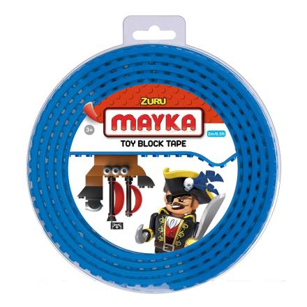 Mayka Block Tape Medium 2 m Blå - Lekmer