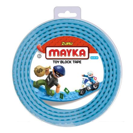 Mayka Block Tape Medium 2 m Lyseblå - Lekmer