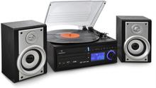DS-2 stereoanläggning skivspelare CD MP3-recorder USB SD AUX FM/AM högtalare