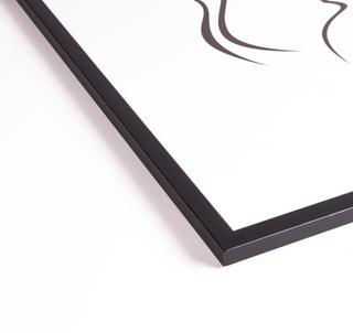 Svart tavelram, 50x50
