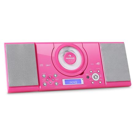 MC-120 stereo MP3-CD-spelare USB rosa