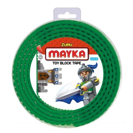 Mayka Block Tape Medium 2 m Mørkegrøn - Lekmer