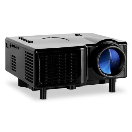Projektor mini-beamer LED VGA AV svart