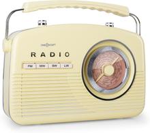 a845b53818f7 oneConcept NR-12 Transistorradio FM MV retro femtiotal cream yellow