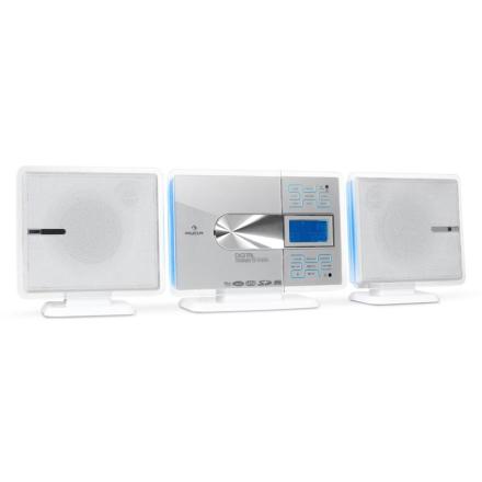 VCP-191 stereoanläggning MP3-CD-spelare USB SD vit