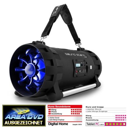 Soundstorm batteridriven bluetooth-högtalare 2 x 40W RMS
