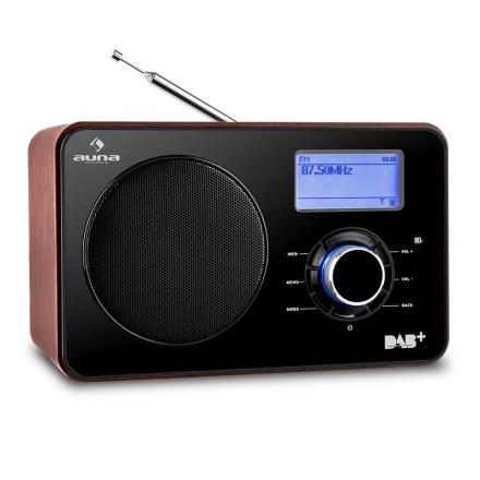 Worldwide Internetradio WLAN/LAN DAB+ USB FM Tuner AUX Dual Alarm
