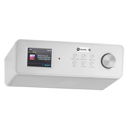 Auna KR 200 Köksradio Internetradio Spotify Connect WiFi DAB+ UKW RDS AUX Silver