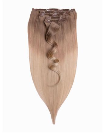 Rapunzel Of Sweden 50 cm Ombre Clip-On Set 7 pieces Cendre Ash Blond