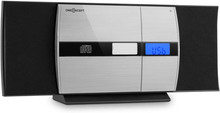 V-15-BT stereo bluetooth CD MP3 USB FM AUX väckarklocka svart