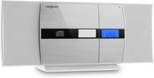 V-15-BT stereo bluetooth CD MP3 USB FM AUX väggmontering vit/silver