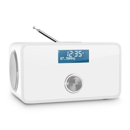 DABStep DAB / DAB + digitalradio bluetooth RDS FM-väckarklocka vit