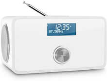 DABStep DAB / DAB + digitalradio bluetooth RDS FM-väckarklocka vit
