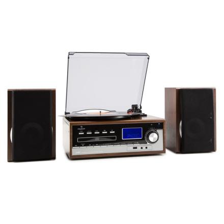 Deerwood Stereoanläggning Skivspelare USB MP3 Encoding CD Kassett UKW AUX