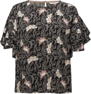 Kris Bl Blouses Short-sleeved Sort Part Two