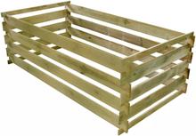 vidaXL kompostbeholder med lameller FSC imprægneret fyrretræ 160 x 80 x 58 cm