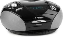 RCD 220 Boombox CD USB Kasettbandspelare PLL-UKW-Radio MP3 Svart