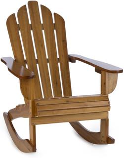Rushmore Gungstol Trädgårdsstol Adirondack-Stil 71x95x105 brun