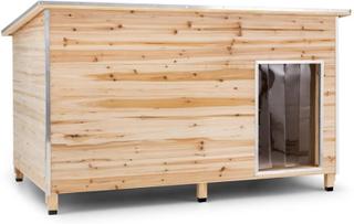 Slott Voff Hundkoja Storlek XL 110x160x100cm isolerad Vindruta Trä