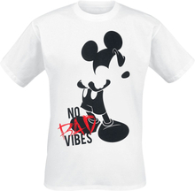 Mickey Mouse - No Bad Vibes -T-skjorte - hvit
