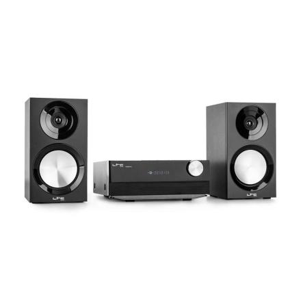 LTC CDM90-BI Micro-HiFi-Stereoanläggning 40W Bluetooth USB CD UKW/MW svart
