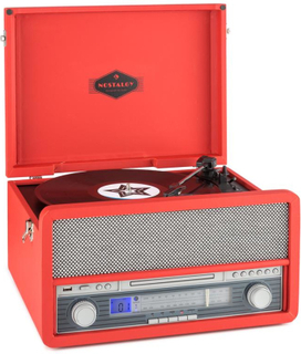 Belle Epoque 1907 Retro-ljudsystem Skivspelare BT MC USB CD AUX
