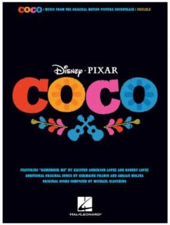 Brand mangler Disney Pixar Coco ukulele-sangbok
