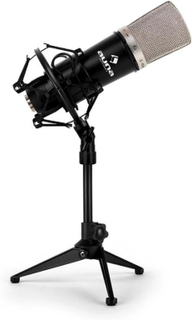 Studio mikrofon med XLR kondensatormikrofon black & mikrofon bordsstativ
