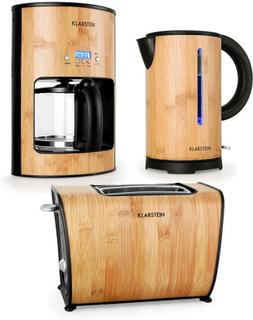 Bamboo Garden frukostset kaffemaskin vattenkokare brödrost