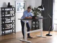 Skrivebord 160x70 cm Elektrisk Justerbar Sort/Hvid Uplift