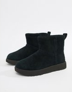 Ugg Classic Mini Waterproof in Black - Black