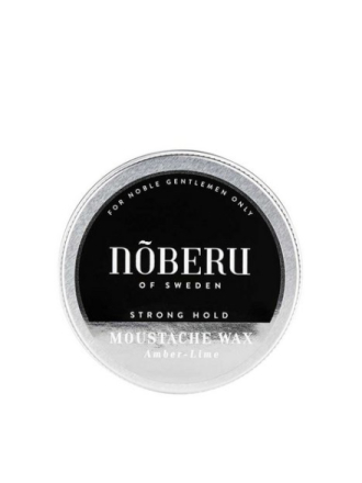 Nõberu Of Sweden Moustache Wax Amber Lime Strong Hold Barbering Amber