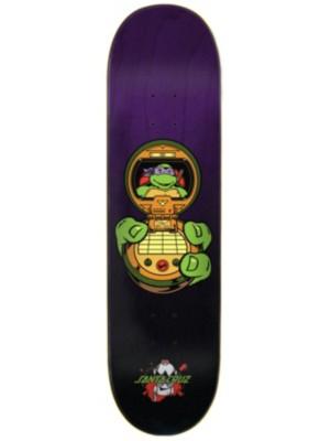"Santa Cruz X TMNT Donatello 8.125"" Skateboard Deck purple Uni"