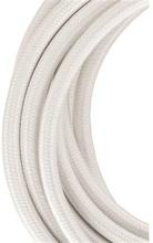 Bailey stoffen kabel 2-aderig wit 3m
