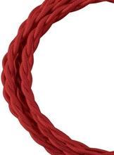 Bailey stoffen kabel gedraaid 2-aderig rood 3m