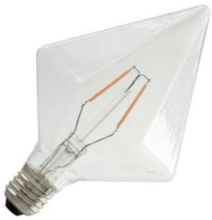 Pyramidlamp LED filament helder 2,0W (vervangt 25W) grote fitting E27