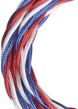 Bailey stoffen kabel gedraaid 3-aderig blauw/wit/rood 3m