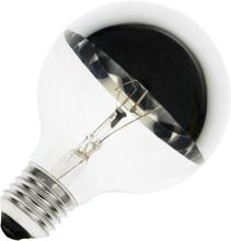 Globelamp kopspiegel zilver 42W (vervangt 60W) grote fitting E27 125mm