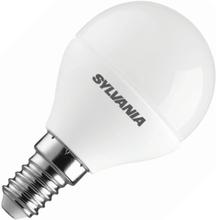 Sylvania   LED Kogellamp   Kleine fitting E14   6,5W (vervangt 40W) Mat
